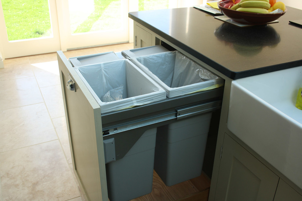 purpose made pull out bin unit