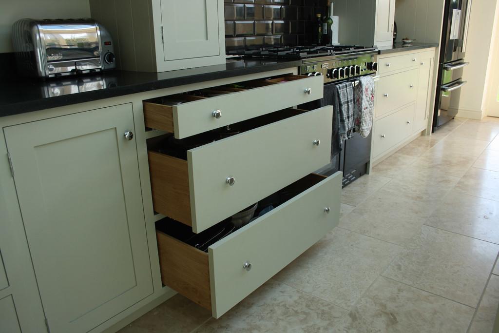 handmade kitchen pan drawers