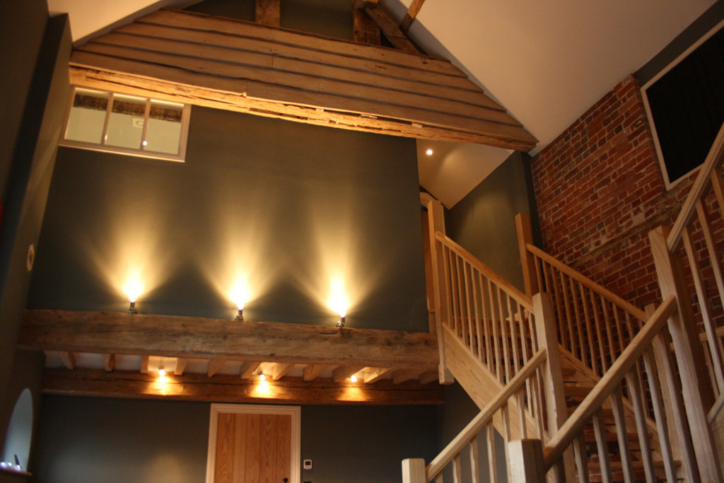 ash staircase & oak beam refurbishment