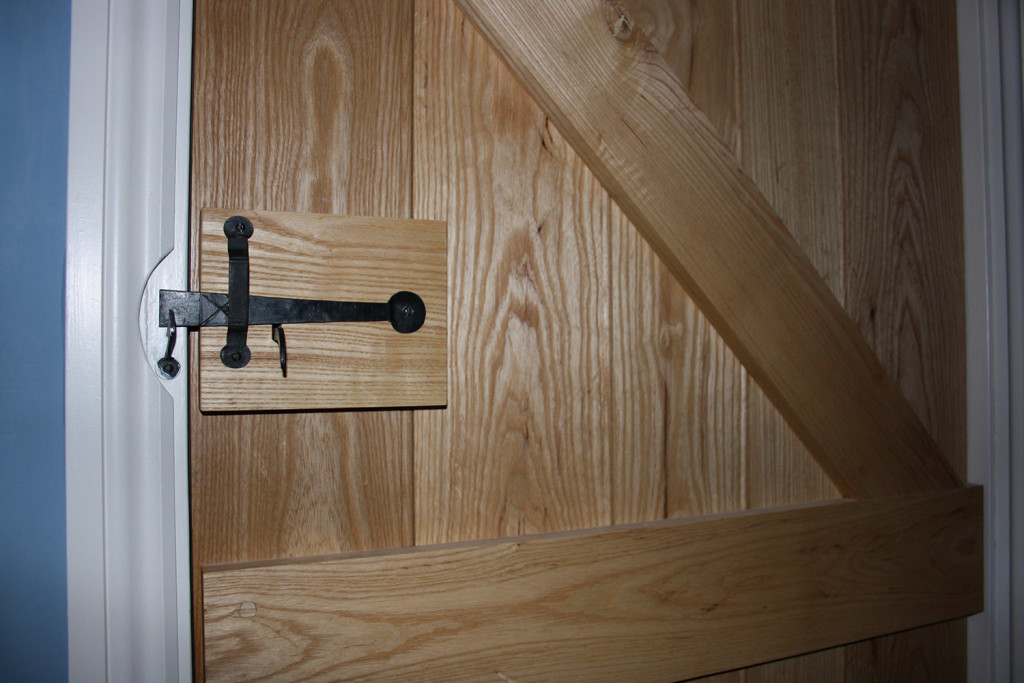 purpose made ash ledged and braced door