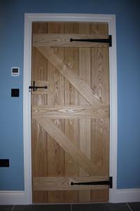 purpose made ash ledged and braced internal door