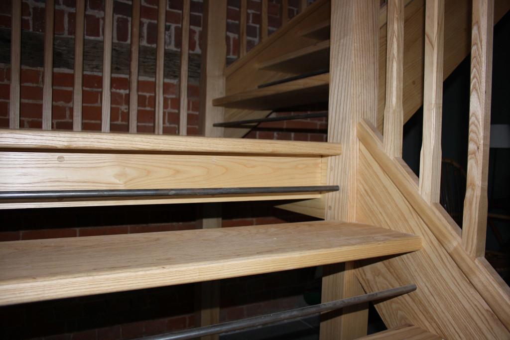 purpose made ash staircase 1