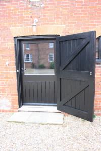 purpose made black barn door 1