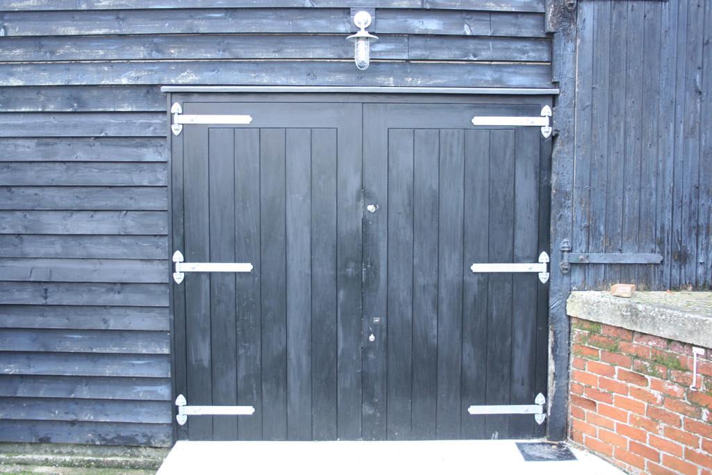 purpose made black barn doors