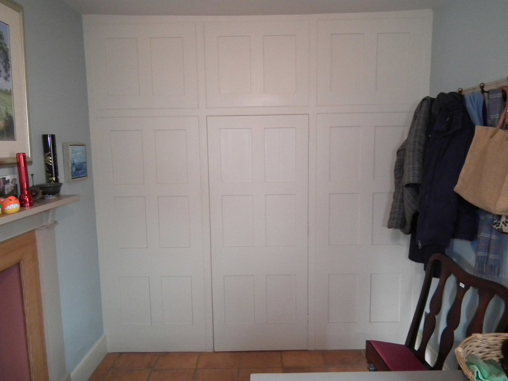 purpose made door and panelling