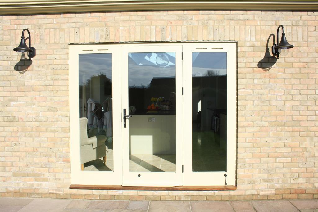 purpose made external glazed door