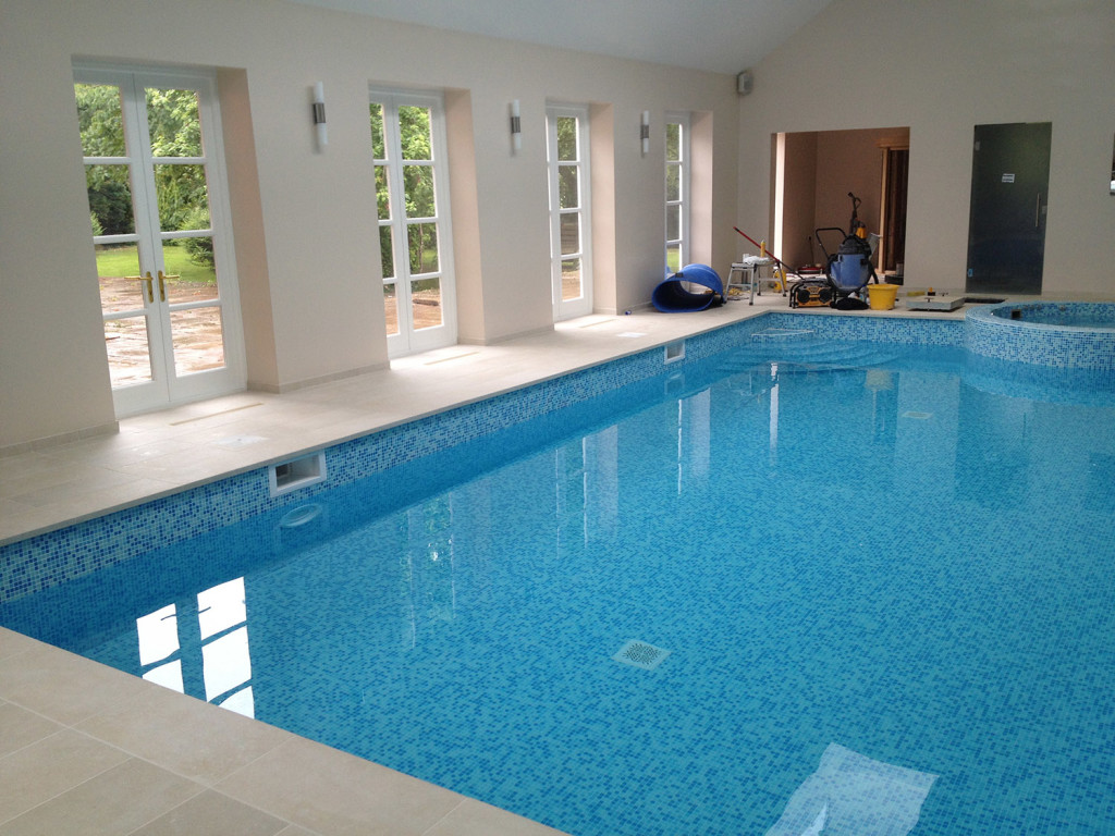 purpose made french doors to pool house