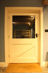 purpose made glazed door