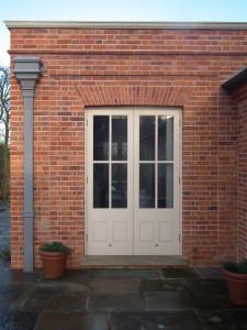 purpose made glazed french doors