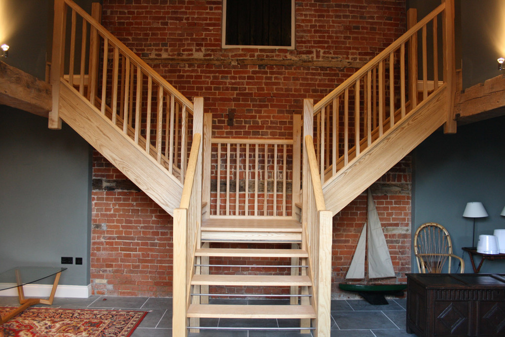 purpose made hardwood staircase