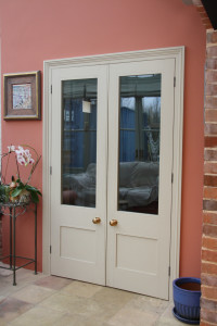 purpose made internal glazed double doors 1