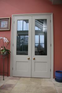 purpose made internal glazed double doors