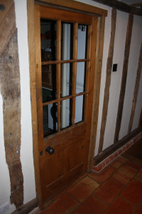 purpose made internal glazed period door