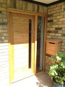 purpose made oak door horizontal boards