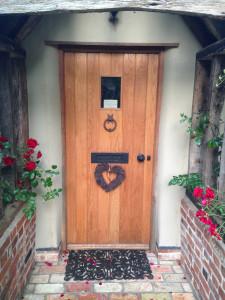 purpose made oak front door 1