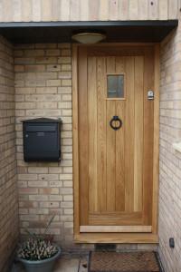 purpose made oak front door 2