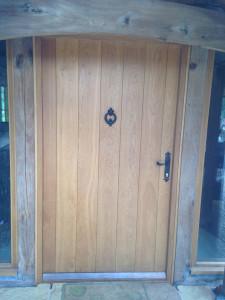 purpose made oak front door