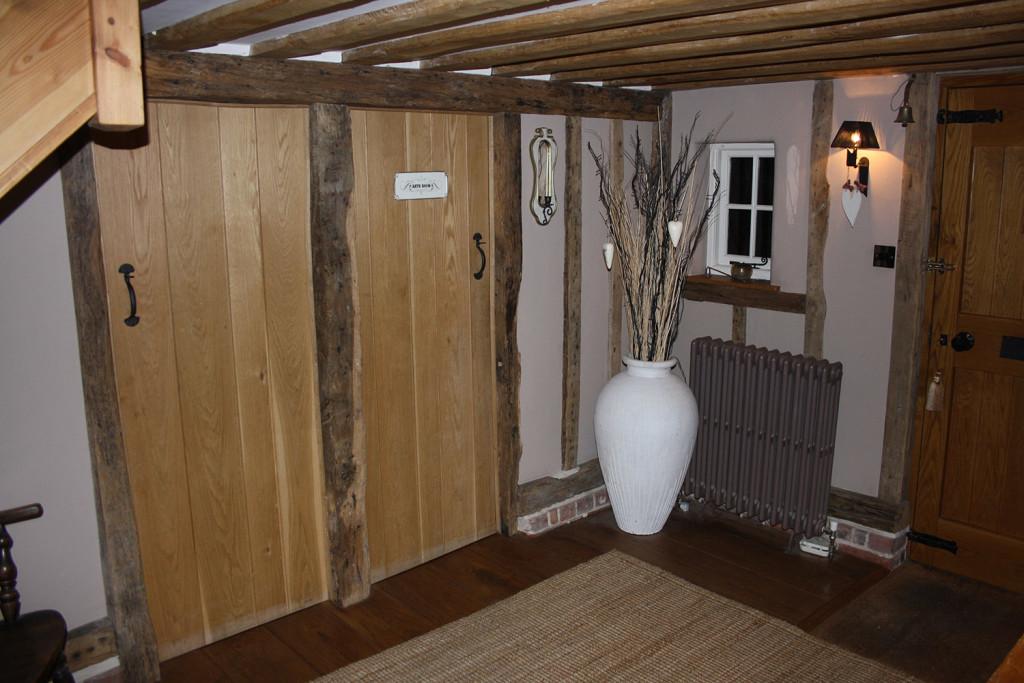 purpose made oak ledged and braced doors