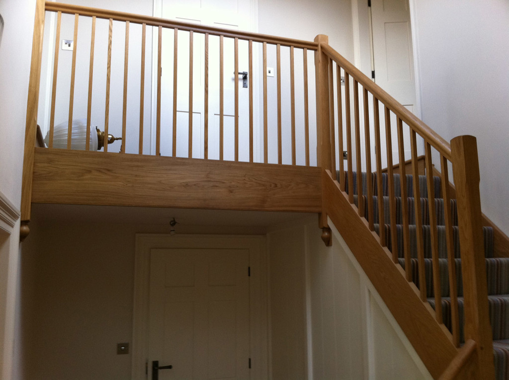 purpose made oak stair case