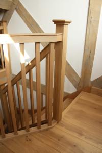 purpose made oak staircase landing