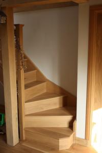 purpose made oak winder staircase (2)