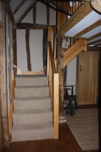 purpose made pine cottage staircase