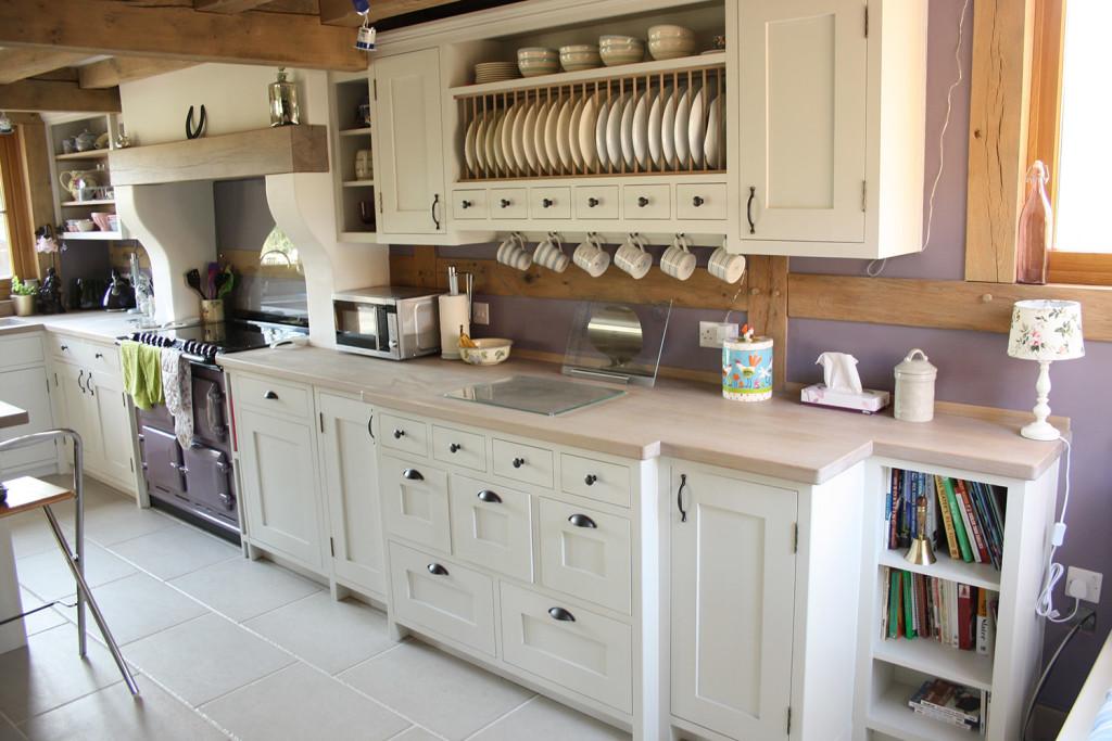 shaker style handmade painted kitchen oak worktops