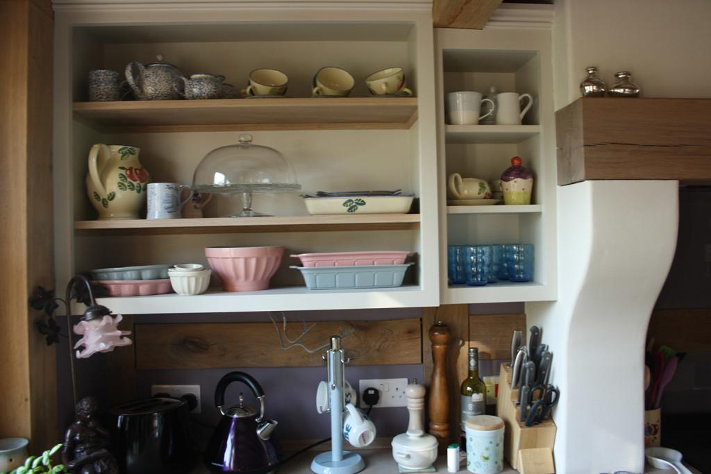 handmade kitchen shelving
