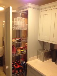 Bespoke kitchen pull out larder unit