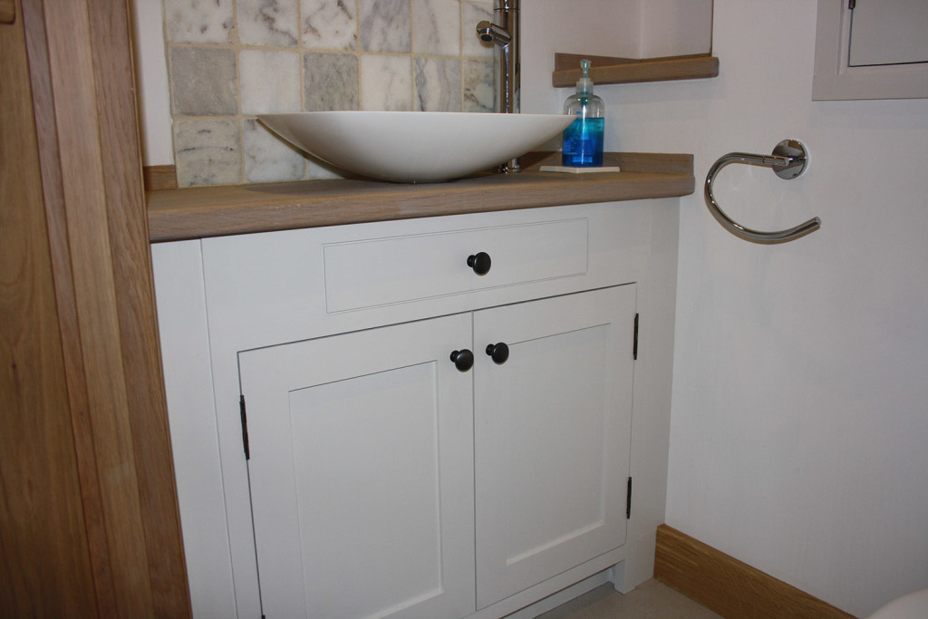 purpose made painted haker vanity unit