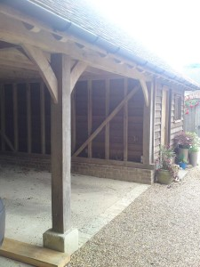 oak framed cart lodge