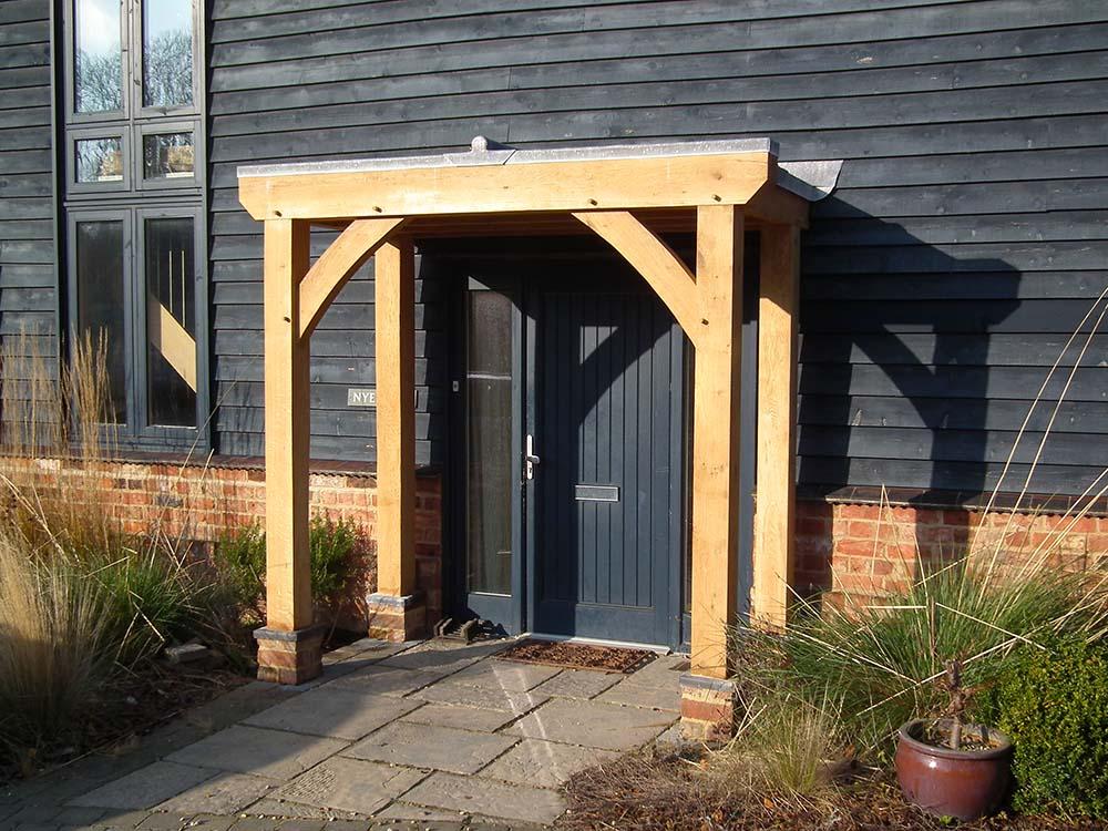 oak framed flat roof porch