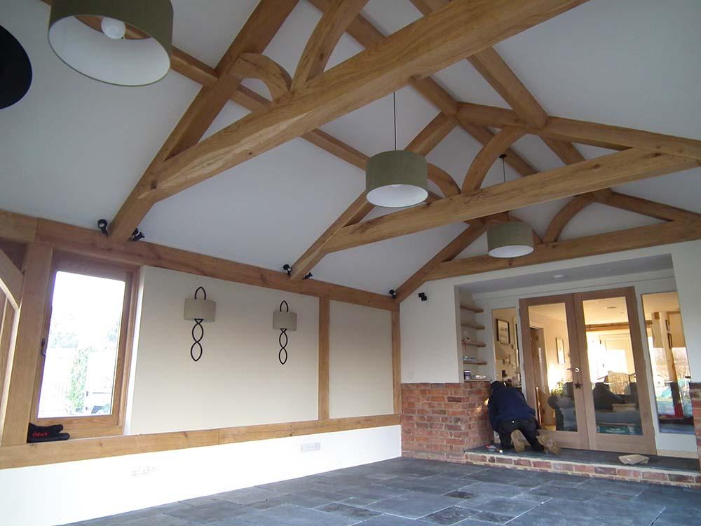 oak framed roof
