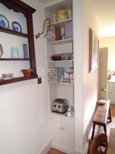 purpose made alcove unit cupboard
