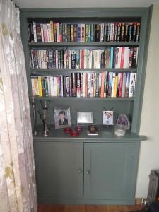 purpose made bookcase cupboard