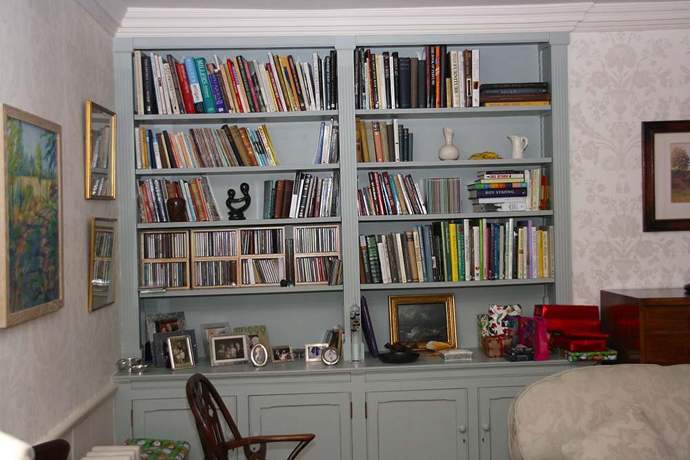 purpose made bookcase cupboard (6)