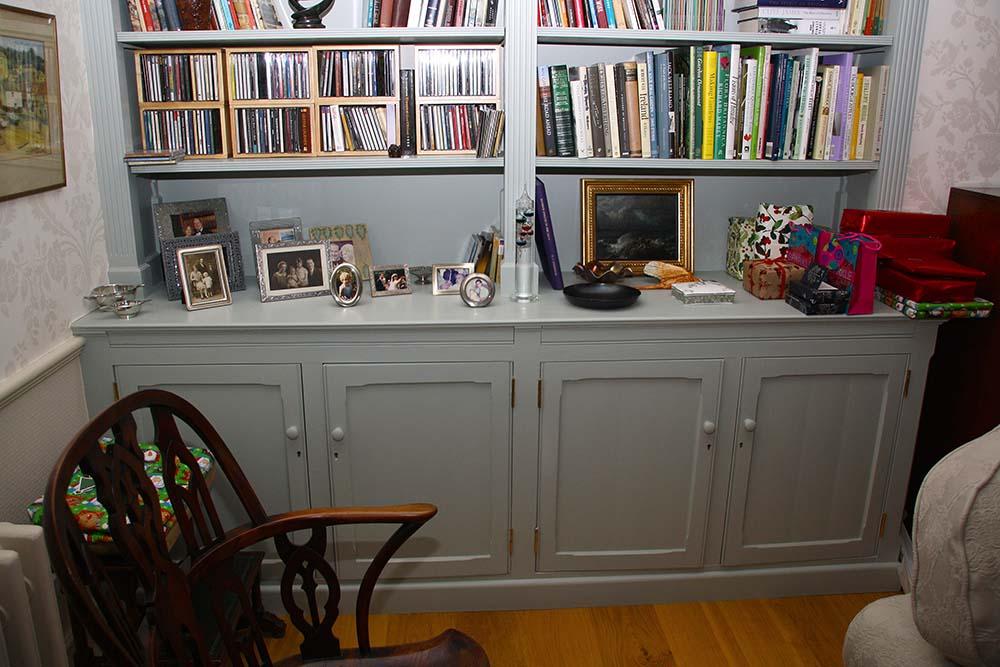 purpose made bookcase cupboard (7)