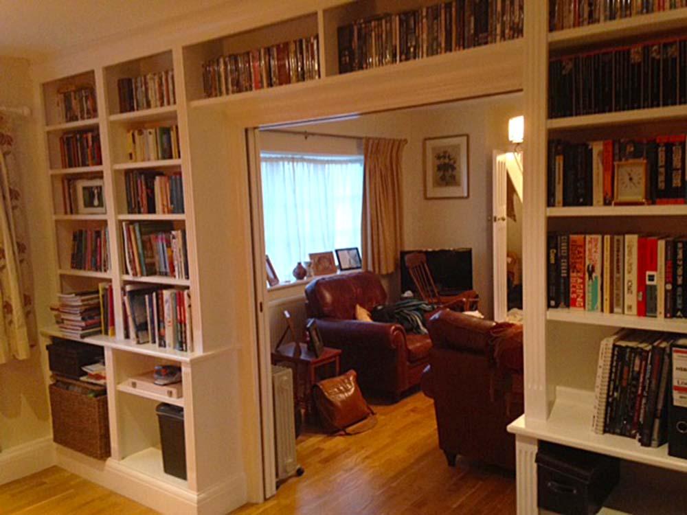purpose made bookcase dividing wall (2)