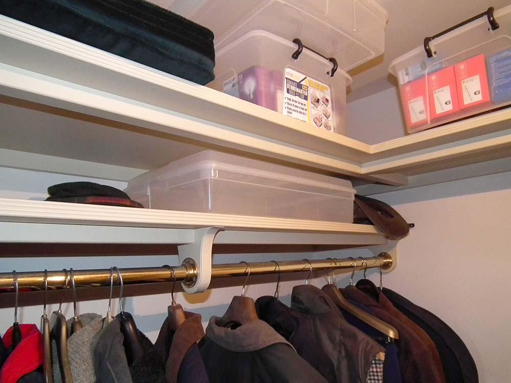 purpose made coat cupboard