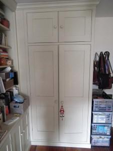 purpose made cupboard