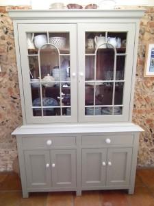 purpose made glass unit cupboard