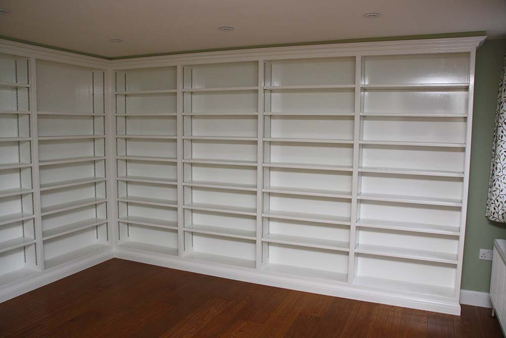purpose made large bookcase