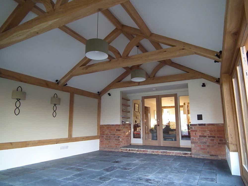 structural oak framed roof